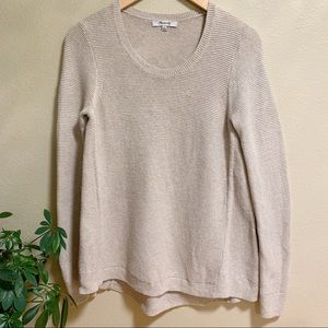 Madewell • Sand Colored Knit Lightweight Sweater